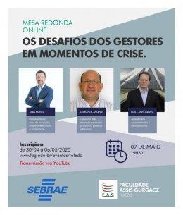 Mesa redonda Online Centro FAG: O Desafio dos gestores na crise